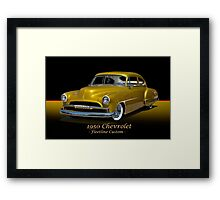 1950 Chevrolet Fleetline Custom w/ ID Framed Print