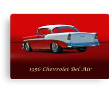 1956 Chevrolet Bel Air w/ ID Canvas Print