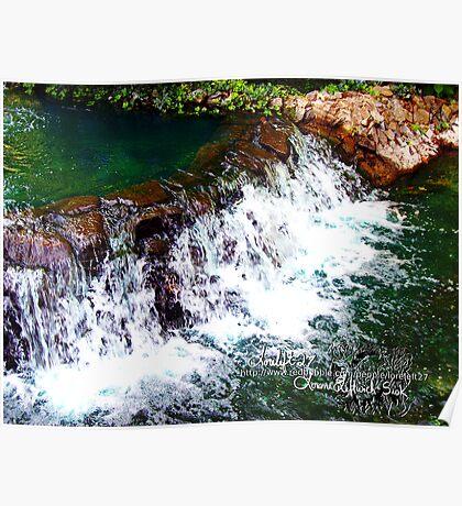 waterfall at busch gardens 3 Poster