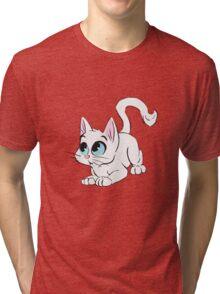 Little White Cat Tri-blend T-Shirt