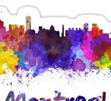 Montreal skyline in watercolor Sticker