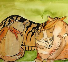 Contented Kitty's by Artbydiavelone