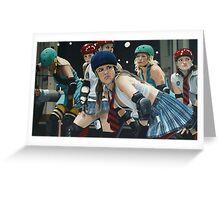 Roller Girls Greeting Card