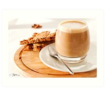 Cortado and Biscuits Art Print
