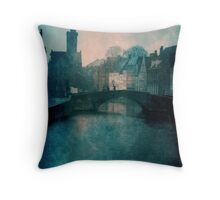 Bruges On A Winters Day Throw Pillow