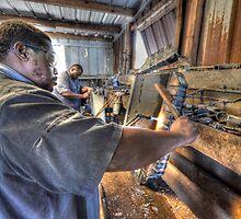 Fixin' Da Radiator at Boy'z Radiators in Fox Hill Village, The Bahamas by Jeremy Lavender Photography