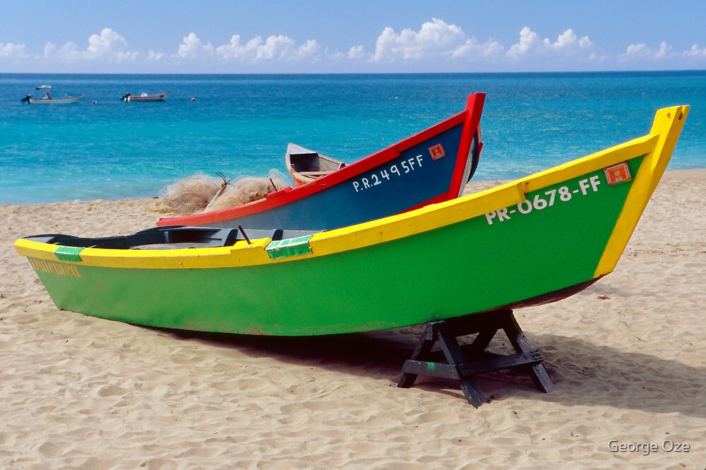 CaribbeaN Fishing Boats by George Oze