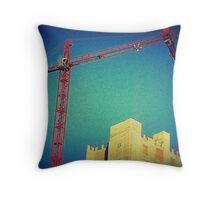 Kissing Cranes Throw Pillow