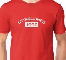 Established 1990 Unisex T-Shirt