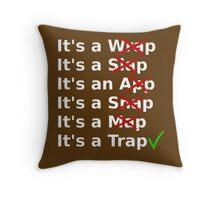 It's a Wrap? No it's a Slap? No Throw Pillow