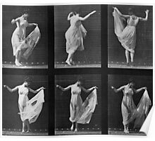 Dancing Woman, plate 187 from 'Animal Locomotion', 1887 Poster