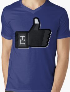 FACEBOOK X GHOSTBUSTERS (GB3) Mens V-Neck T-Shirt