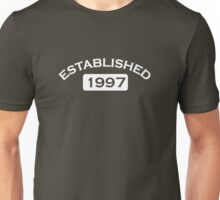 Established 1997 Unisex T-Shirt