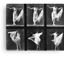 Dancing Woman, plate 187 from 'Animal Locomotion', 1887 Canvas Print