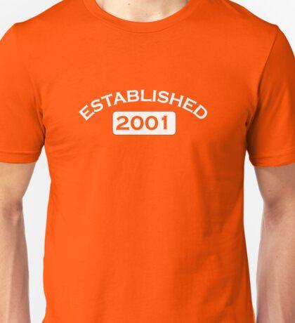 Established 2001 Unisex T-Shirt