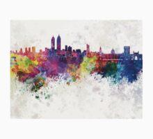 Mumbai skyline in watercolor background Kids Tee