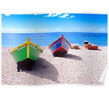 Frontal View of Caribbean Fishing Boats  Poster