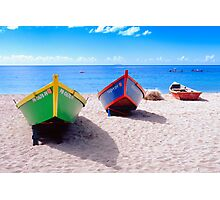 Frontal View of Caribbean Fishing Boats  Photographic Print