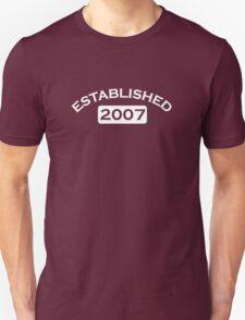 Established 2007 T-Shirt