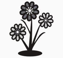 Monochrome Flowers (iPhone/iPod) One Piece - Short Sleeve