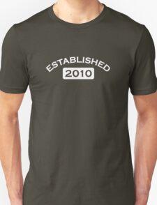 Established 2010 Unisex T-Shirt