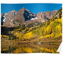 Maroon Bells And Maroon Lake Poster