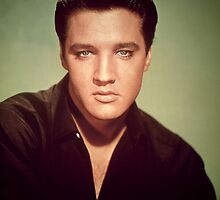 Elvis Presley (photo) Elvis Aaron Presley (1935-77), American singer and actor; also known as 'The King' by Bridgeman Art Library