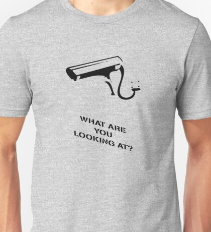 Banksy What you looking at? Unisex T-Shirt