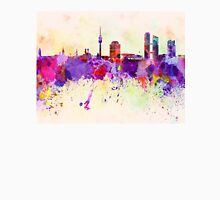 Munich skyline in watercolor background T-Shirt