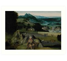 The Rest on the Flight into Egypt (The Miraculous Field of Wheat) c.1518-24  Art Print