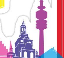 Munich skyline pop Sticker