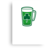 Saint Patrick's Day lucky green beer  Canvas Print