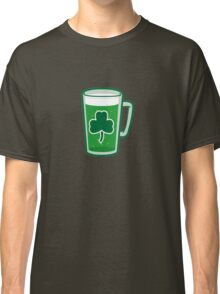 Saint Patrick's Day lucky green beer  Classic T-Shirt