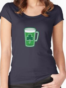 Saint Patrick's Day lucky green beer  Women's Fitted Scoop T-Shirt