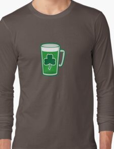Saint Patrick's Day lucky green beer  Long Sleeve T-Shirt