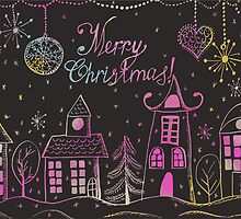Greeting Christmas and New Year card by TrishaMcmillan