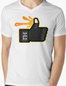 FACEBOOK X GHOSTBUSTERS (GB3 SLIMED) Mens V-Neck T-Shirt
