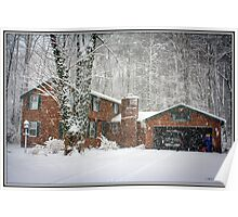 Snowy Day on Tinker Tavern Road Poster