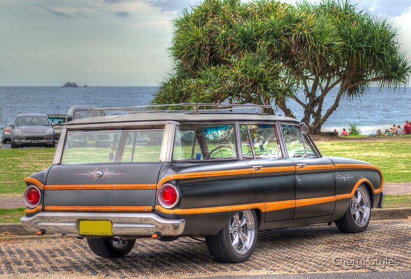 Retro Ford Falcon Country Squire By Cheryl Styles