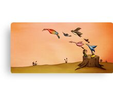 Birds (from 'The Girl with The Yellow Bag') Canvas Print