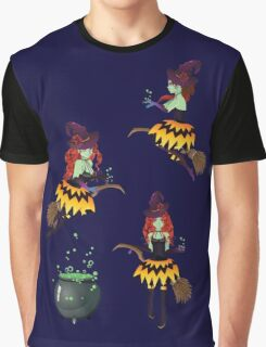 Dark Witch with Broom 2 Graphic T-Shirt