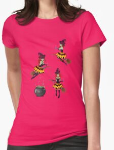 Dark Witch with Broom 2 Womens Fitted T-Shirt
