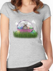 Easter Bunny Rabbit Women's Fitted Scoop T-Shirt