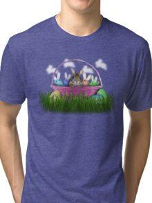 Easter Bunny Rabbit Tri-blend T-Shirt