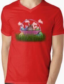 Easter Bunny Rabbit Mens V-Neck T-Shirt