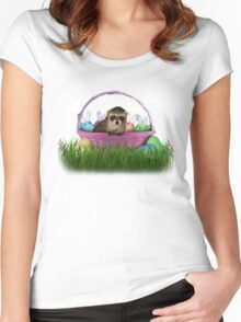Easter Raccoon Women's Fitted Scoop T-Shirt