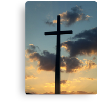 The Risen King - Cross at Sunset in Florida Canvas Print