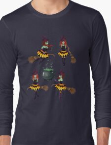 Dark Witch with Broom 3 Long Sleeve T-Shirt