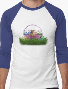 Easter Squirrel Men's Baseball ¾ T-Shirt