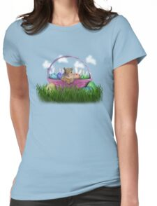 Easter Squirrel Womens Fitted T-Shirt